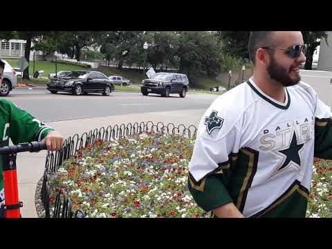 NHL Dallas Stars Fans Downtown Dallas, TX ROUND 2 NHL PLAYOFFS #focusboysports