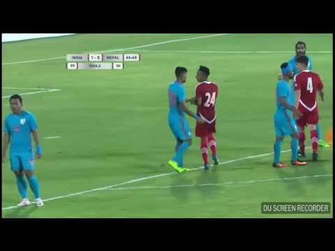 बिराज मर्हजन !! Got Red card !! Nepal Vs India.!!  Football Match!!!