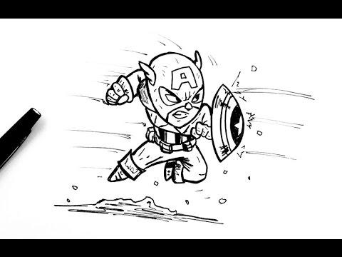 Comment dessiner captain america chibi youtube - Comment dessiner captain america ...