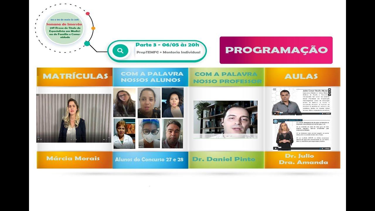 Curso Preparatório para 29ª edição da Prova de Título da SBMFC PrepTEMFC + Mentoria Individual