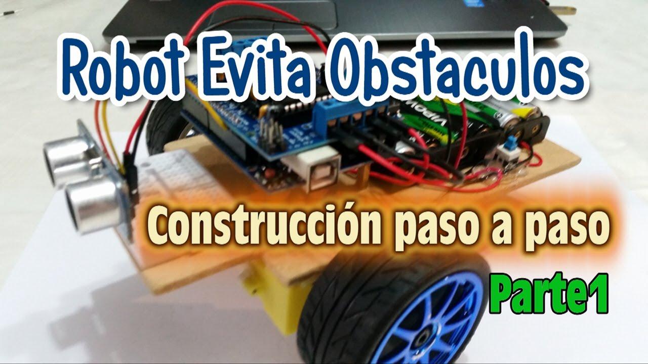 Robotica robot evita obstáculos construcción paso a