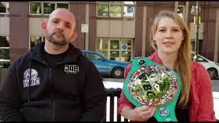 Exclusive: Hannah Rankin & Noel Callan upcoming WBA title fight - 4 Aug