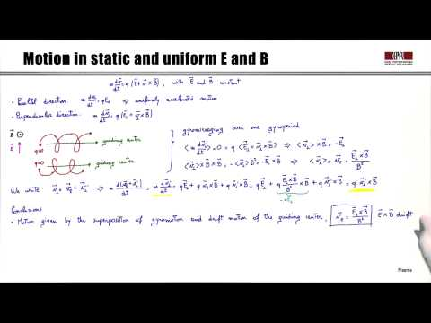 1e Particle motion in given electromagnetic fields: the drifts