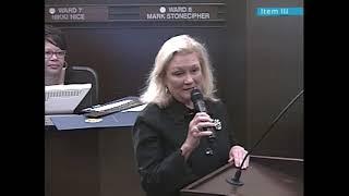 Councilwoman Meg Salyer's last city council meeting