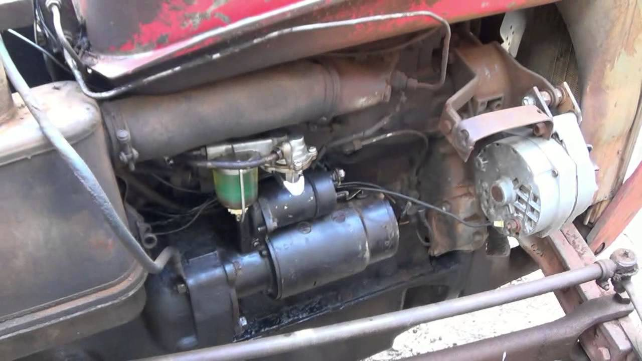 how to wire up a single wire alternator for tractors youtube rh youtube com ford 3000 tractor starter solenoid wiring diagram Ford Diesel Starter Wiring