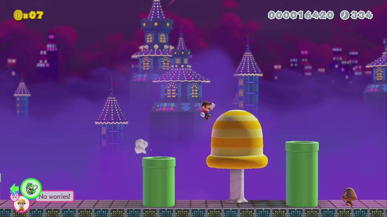 Online Co-op ~ Super Mario Bros  1-1 3D Remix by ρυmρκ¡ηπ - Super Mario  Maker 2 - No Commentary