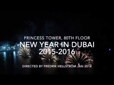 New Year in Dubai 2015-2016 Princess Tower 80th floor