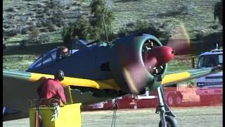 Nakajima Oscar Airplane Engine start at Wanaka New Zealand
