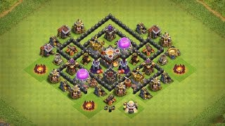 Undefeated Town Hall 6 (TH6) Trophy + Farming Base !! [ Best TH6 Defense 2017 ] - Clash Of Clans