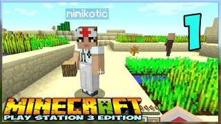 ч.01 - Носатая Деревня - Minecraft На Приставке