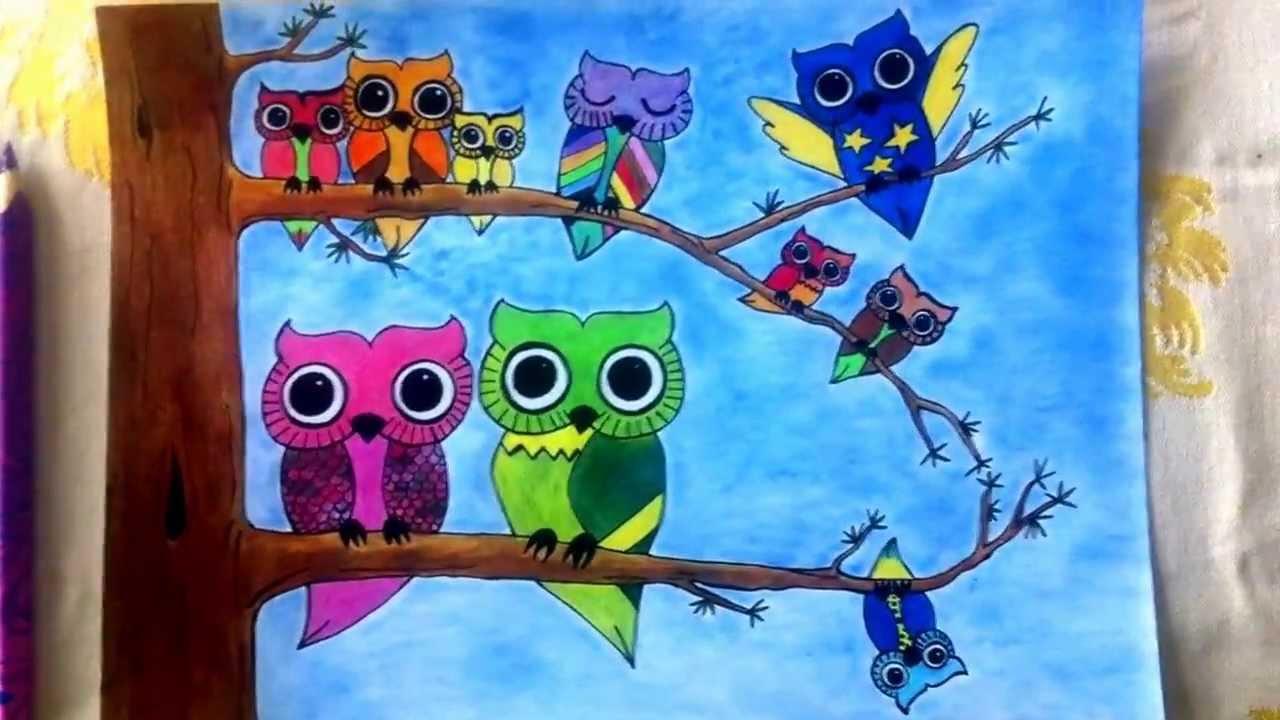 Owl Canvas Art For Kids
