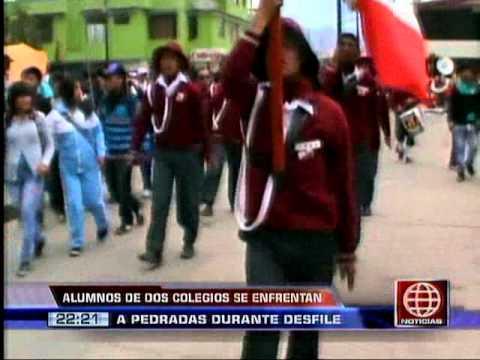 América Noticias - 201113 - Escolares se enfrentaron a pedradas en Huancayo