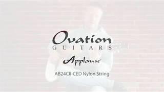 Ovation Applause AB24CII CED Nylon String