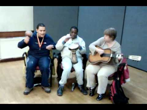 Singing at Croydon Voluntary Association for the Blind