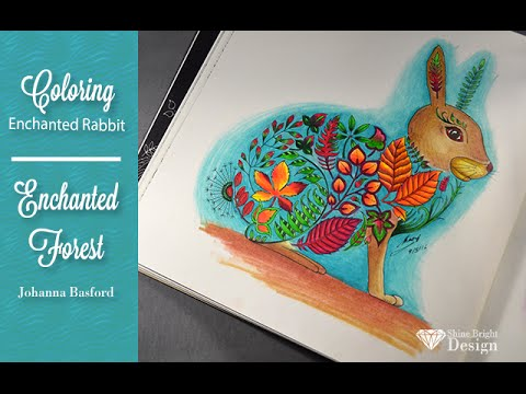 Adult coloring book} Enchanted Forest byJohanna Basford; Rabbit ...