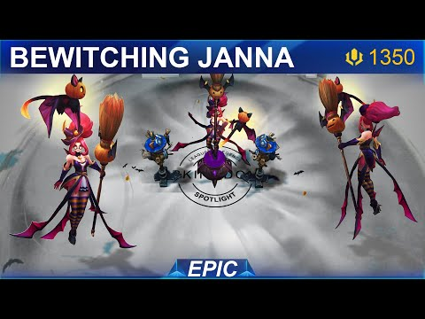 Bewitching Janna Skin Spotlight 2020 | SKingdom - League of Legends
