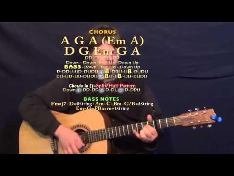 Chevy Van (Eric Church) Guitar Lesson Chord Chart - Capo 3rd