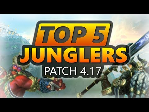 WARRIOR META! SMITE Top 5 Junglers & Item Builds for them - Patch 4.17