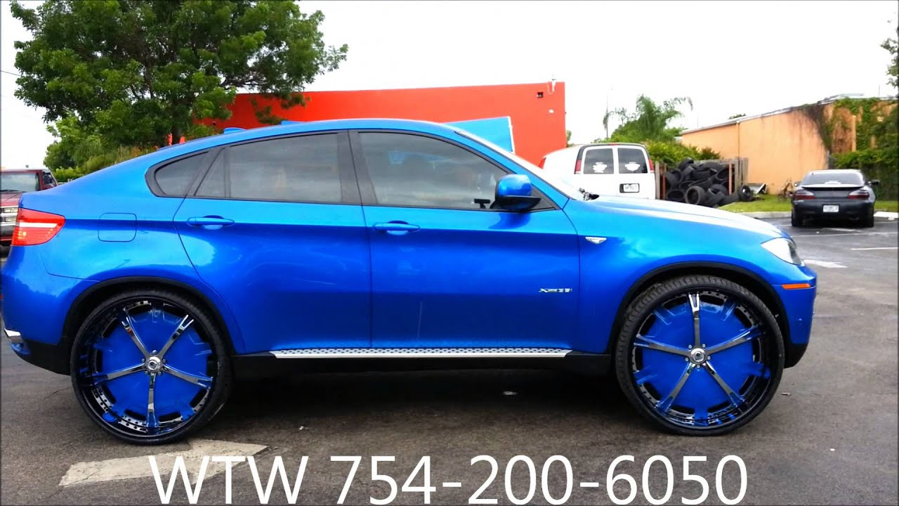 Acewhips Net Blue Bmw X6 On 28 Quot Asantis By Wtw Customs