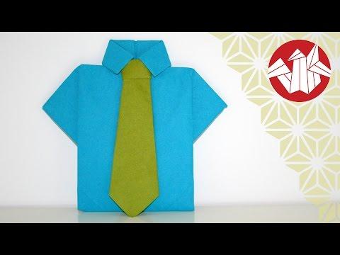 Cravate Chemise Origami En ServiettesenbazuruYoutube Et Tuto pzVSUM