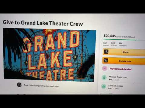 Fund Raiser For Oakland Grand Lake Theater Staff Needs $29K, $9K Short Of Goal