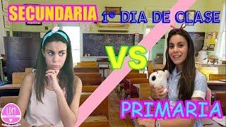 1º DIA DE CLASE /PRIMARIA VS SECUNDARIA/LA ESCUELA/LA DIVERSION DE MARTINA