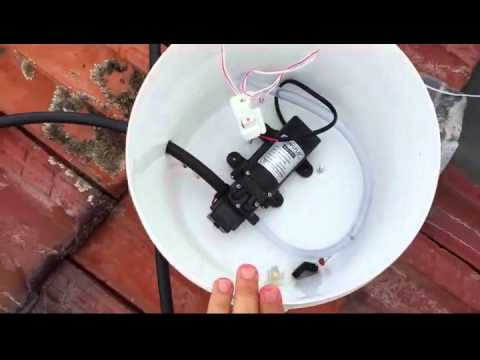 Domestic solar PV panel water cooling DIY system