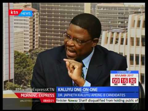 Morning Express: One on One with Presidential candidate Dr. Japheth Kaluyu