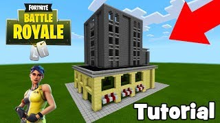 "Minecraft: How To Make Trump Tower from Tilted Towers ""Fortnite"""