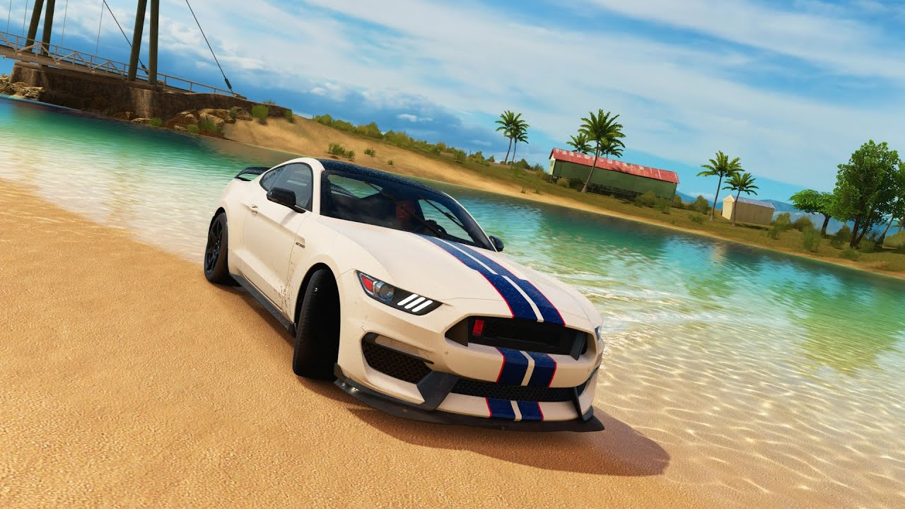 forza horizon 3 shelby gt350 r top speed run and drone. Black Bedroom Furniture Sets. Home Design Ideas
