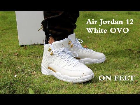 buy popular 24e41 7e9ca Air Jordan 12 white OVO on feet