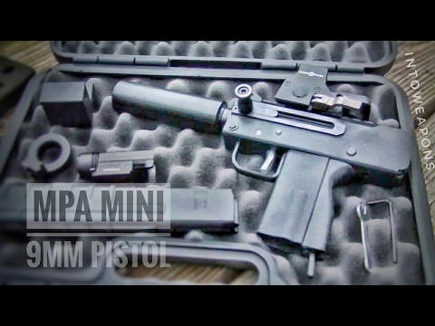 MasterPiece Arms Mini 9mm Pistol: Unboxing - Shooting