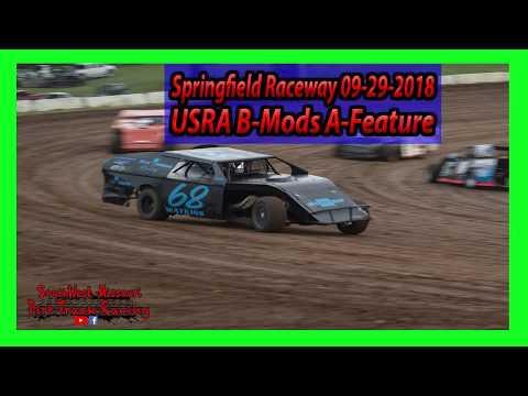 USRA B-Mods A-Feature - Springfield Raceway - Springfield Raceway 9-29-2018