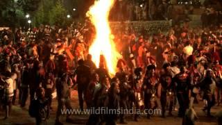 Bon Fire dance at Nagaland Hornbill festival