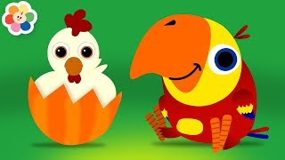 Learn Animals Sounds with Funny Larry Surprise Eggs   Learning Animal Names for Kids on BabyFirst TV