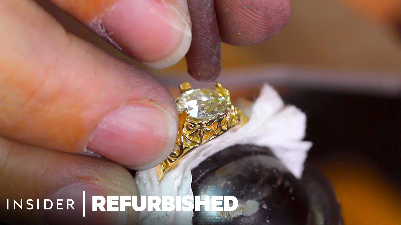 How A Misshapen 1930s Ring Is Professionally Restored   Refurbished