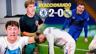 HINCHAS del BARÇA REACCIONAN al CHELSEA 2 - 0 REAL MADRID *eliminados de la Champions*