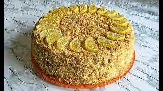Торт Лимонный Наполеон Удивите Себя и Своих Гостей Он Просто Восхитителен!!! / Napoleon Cake