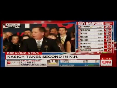 John Kasich 2016 - Primary Night Speech, New Hampshire
