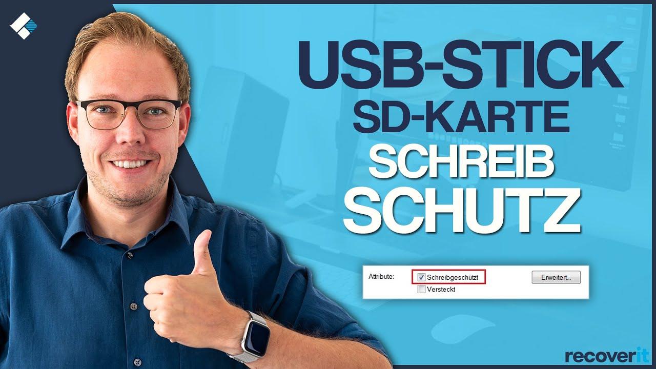 USB-Stick / SD-Karte: Schreibschutz entfernen, so geht's