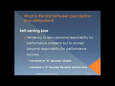 Perception and Attribution OB Chapter 4