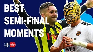 Deulofeu WONDER Goal, Jimenez Celebration & More! Best Semi-Final Moments   Emirates FA Cup 18/19