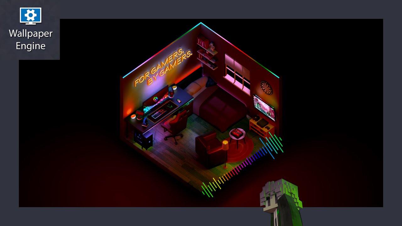 [Wallpaper Engine] RAZER Bedroom Audio Visualizer (DL link ...