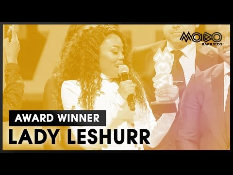 LADY LESHURR  BEST FEMALE ACT acceptance speech at MOBO Awards    MOBO