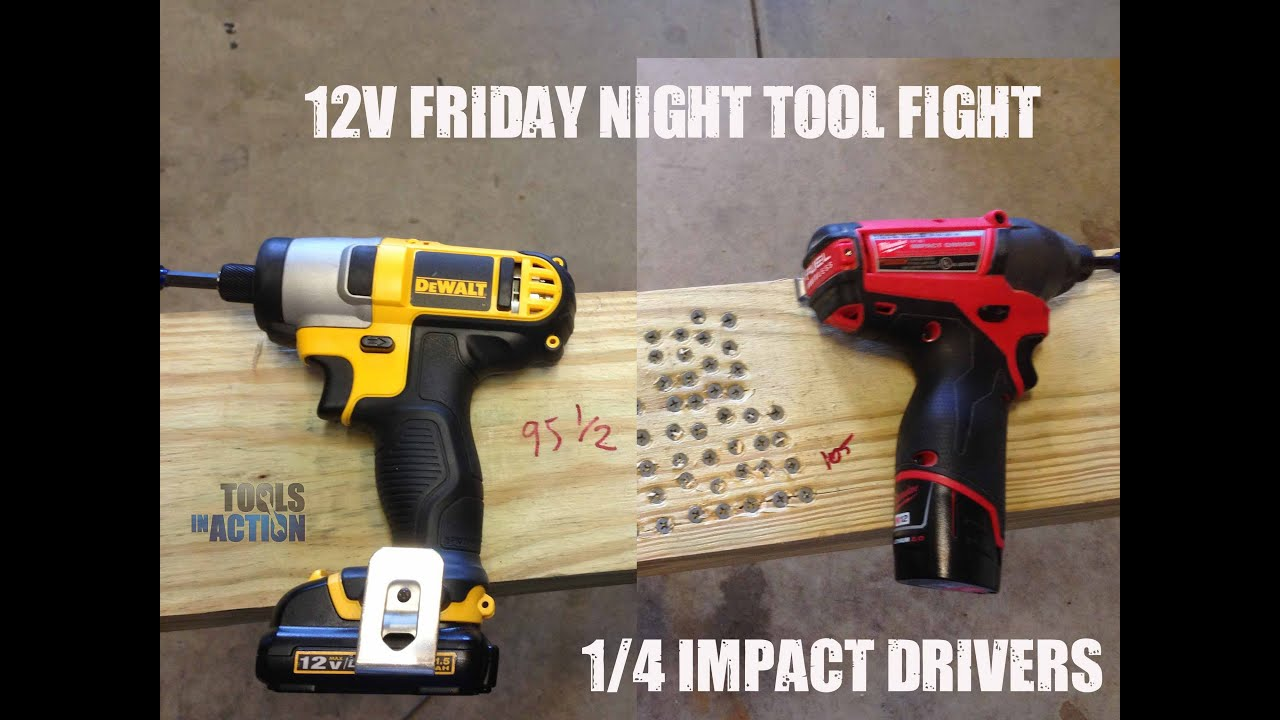 Friday Night Tool Fight - Milwaukee vs DeWALT 12V Impact Drivers