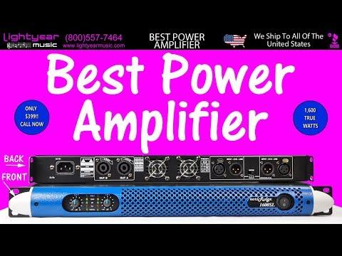 Best Professional Power Amplifier 1600 TRUE WATTS Lightyearmusic Karaoke & Pro Audio Superstore ✅