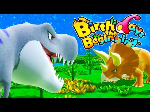 TRICERATOPS VS TYRANNOSAURUS! The Biggest Dinosaurs Arrive - Birthdays the Beginning Gameplay Part 2
