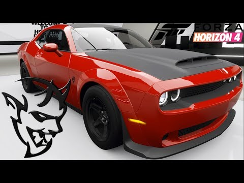 Forza Horizon 4 - Dodge Demon - Customization, Top Speed ...