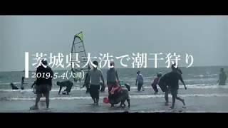 茨城県大洗で潮干狩りをしてきた動画です 去年は不漁でしたが今年はどう...