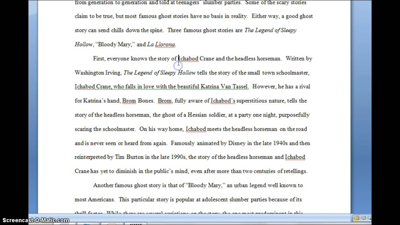 free exemplification essay